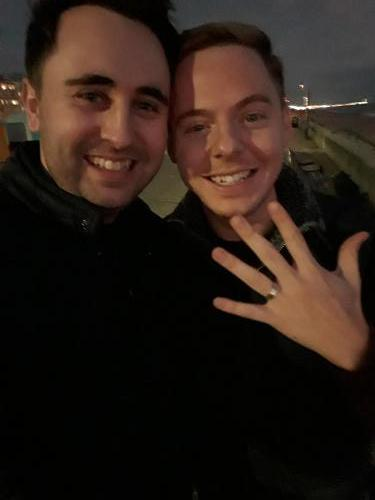 Lovers just engaged